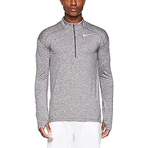 Nike Men's Dry Element 1/2 Zip Running Top Grey AQ7903 021 (XXL) (Nike Waffle Shirt)
