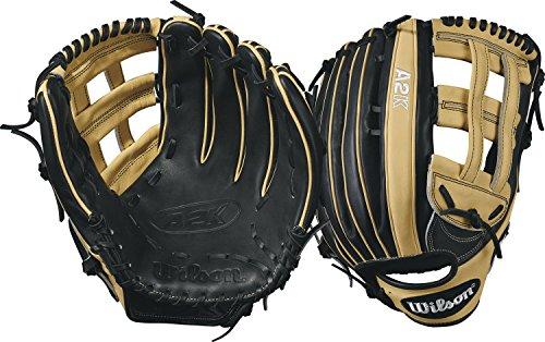 12.75 In Outfield Baseball Glove (Wilson 2017 A2K 1799 Baseball Glove, Blonde/Black, 12.75