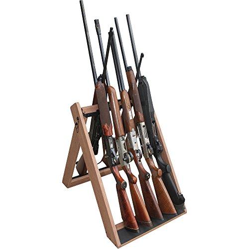 Rush Creek Creations 37-0119 Deer Camp Portable 10 Gun Folding Storage Rack