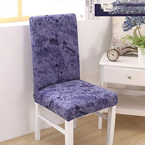 BEOTARU Elastic Kitchen Dining Chair Covers Spandex Backrest Seat Cover Hotel Office Computer Chairs Slipcover