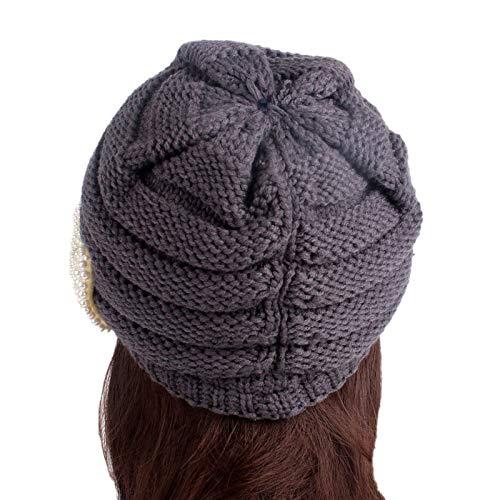 COMVIP 5Styles Women Knitted Winter Warm Visor Beret Cold Weather Newsboy Caps