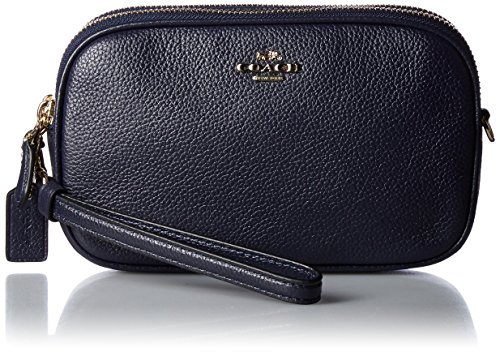 315c957281d4 COACH Women s Pebbled Crossbody Clutch Gd Blossom One Size  Handbags   Amazon.com