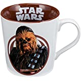 Vandor 99163 Star Wars Chewbacca 12 Ounce Ceramic Mug, White/Brown