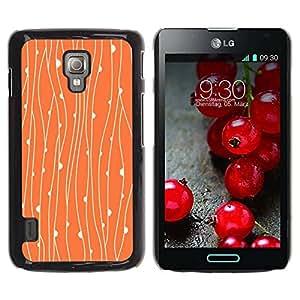 Paccase / SLIM PC / Aliminium Casa Carcasa Funda Case Cover - Rustic Orange Floral Wallpaper - LG Optimus L7 II P710 / L7X P714
