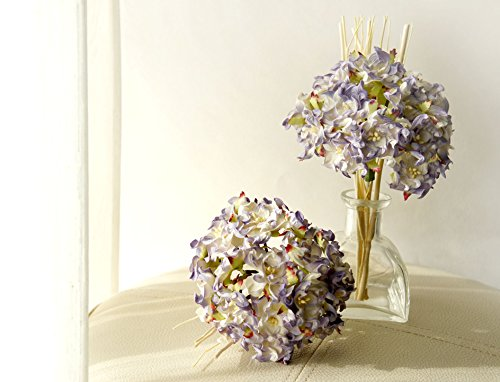 Plawanature Light Purple Hydrangea Bundle Mulberry Paper Flower Bouquet with Reed Diffuser for Home Fragrance. Hydrangeas Bouquet Paper