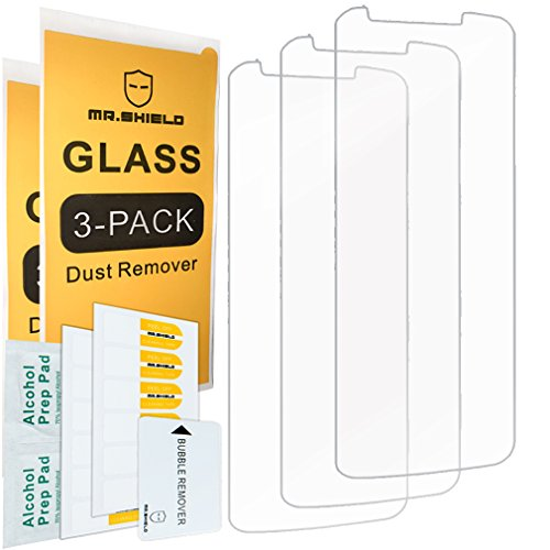 [3-PACK]- Mr Shield For Moto E5 Plus [Tempered Glass] Screen Protector with Lifetime Replacement Warranty