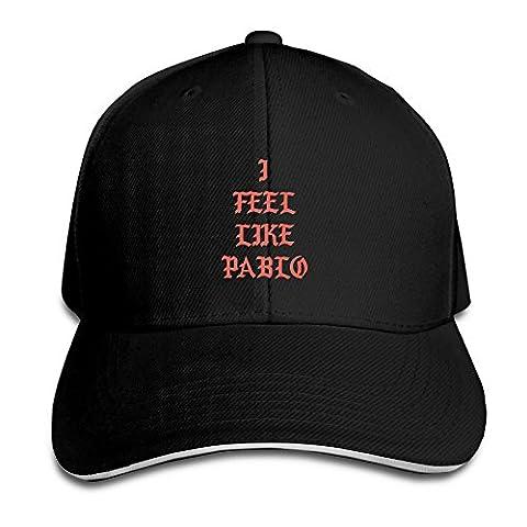 101dog I Feel Like Pablo Unisex Adjustable Baseball Ball Cap Hat Black (What Did Kanye)