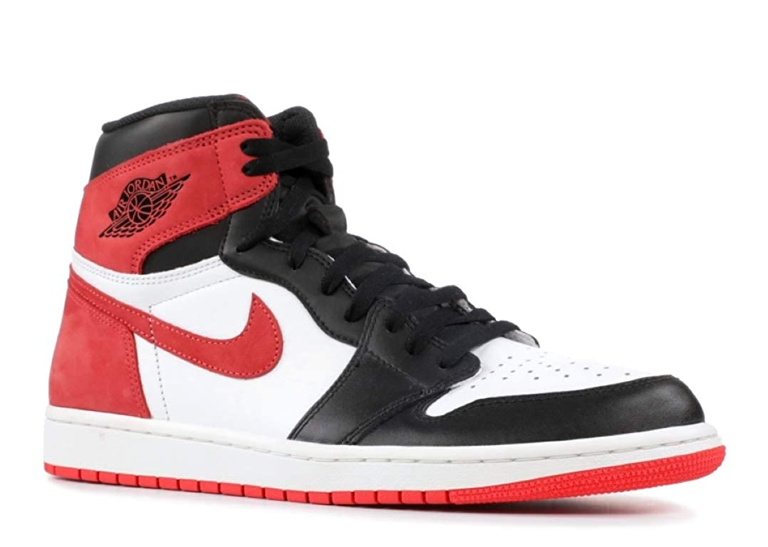 c0a804042ed Amazon.com | Jordan Men's Air 1 Retro High OG, Summit White/Track RED-Black,  10 M US | Basketball