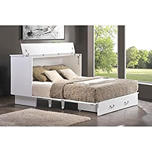 Arason Enterprises Inc. Cottage-Style Cabinet Pull-Out Queen-Size Bed