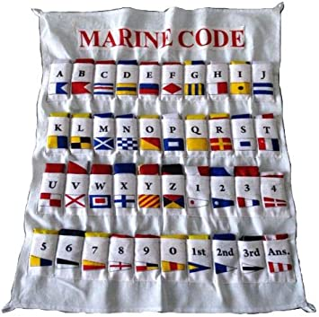 Marine Boat Yacht Beach Nautical Brass Blessing International Maritime Signal Flag Set with Case Cover