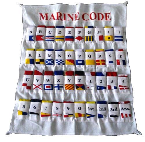 Marine Maritime Signal Flags/Flag Set - Set of 40 Flag with CASE Cover - Nautical/Maritime Boat/Ship / Vessel/Nautical Décor (5100) ()