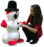 Big Plush American Made Giant Stuffed Snowman 3 feet Tall Soft Christmas Snuggle Buddy