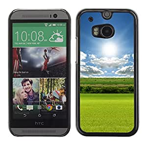 Paccase / SLIM PC / Aliminium Casa Carcasa Funda Case Cover - Nature Field Green - HTC One M8