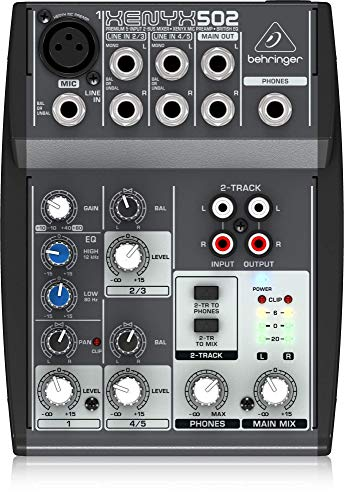 Behringer Xenyx 502 Premium 5-Input 2-Bus Mixer with XENYX Mic Preamp and British EQ ()