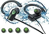 Wireless Headphones Edelin - Bluetooth Earphones with Mic Stereo Noise Cancelling Waterproof IPX7 for Sport Running Gym Yoga - Compatible iPhone 7 Samsung Galaxy S7 Android iOS Devices - Free Case