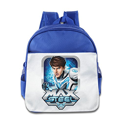 Boomy Max Steel Man School Bag For 3-6 Years Old Toddler Kids RoyalBlue Size One Size - Apocalypse X Men Movie Costume
