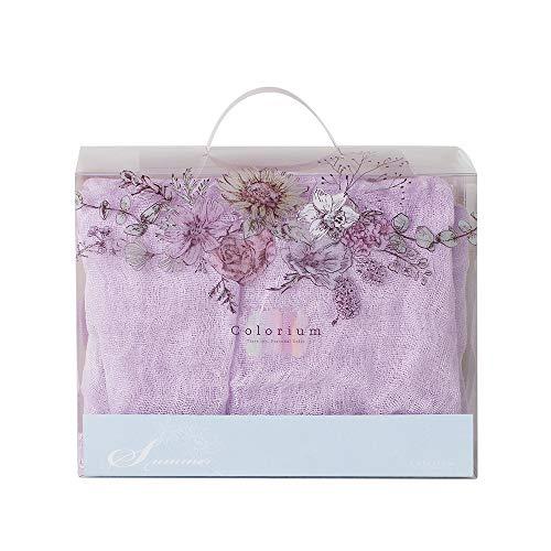 Tiara inc Women's Fashion 100% Linen Scarf Made in Japan (Lavender)