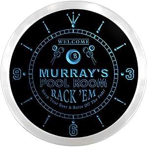 ncpz1122-b Murray del Social Club Bar cerveza Pub LED neón Sign reloj de pared