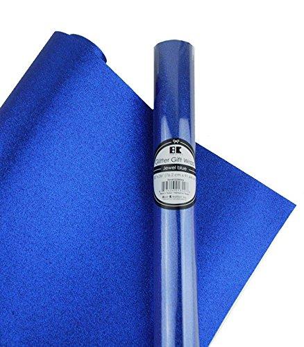 Best Creation Glitter Gift Wrap, 30 x 36-Inch, Jewel Blue