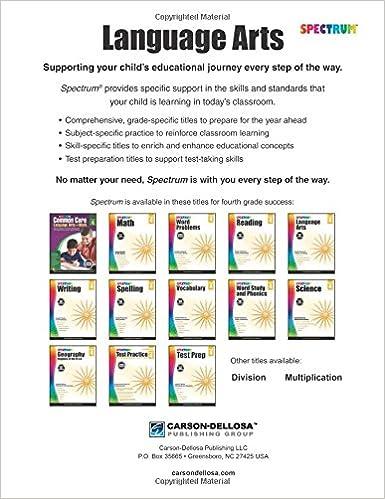 Workbook adverb of manner worksheets : Spectrum Language Arts, Grade 4: Spectrum: 9781483812076: Amazon ...