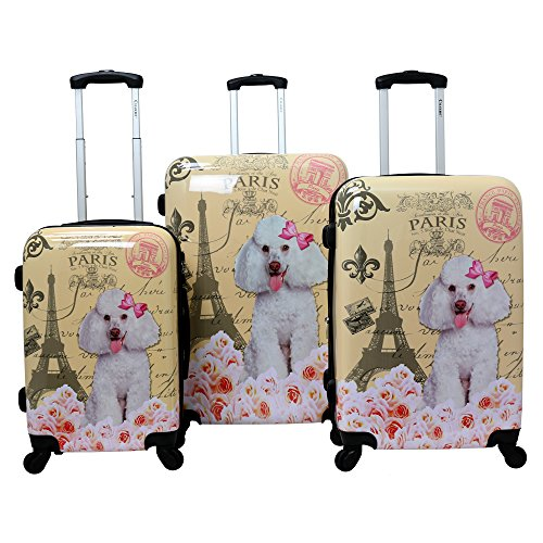 9378be6d85c1 Chariot Doggie 3-Piece Expandable Hardside Lightweight Spinner ...