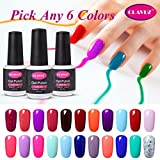 Clavuz Soak Off UV Gel Nail Polish Starter Kit, Pick Any 6 Colors