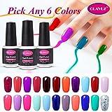 #3: Clavuz Soak Off UV Gel Nail Polish Starter Kit, Pick Any 6 Colors