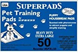 Superpads X-Large Maximum Absorbency 28 x 36-Inch Pet Training Pads, 50-Pack, My Pet Supplies