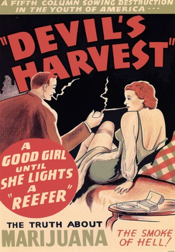 Affiche Prints AD82 1950's Devils Harvest Marijuana Anti Drugs Film Movie Advertisement Poster - A3 (432 x 305mm) 16.5