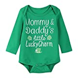 Paddy Field Baby Boys Girls Outfit Set ST Patricks Day Long Sleeve Clothes Bodysuit