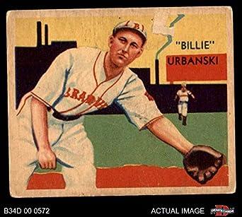Amazoncom 1935 Diamond Stars 37 Billy Urbanski Boston Braves