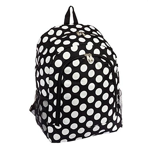Print School Travel Backpack Black