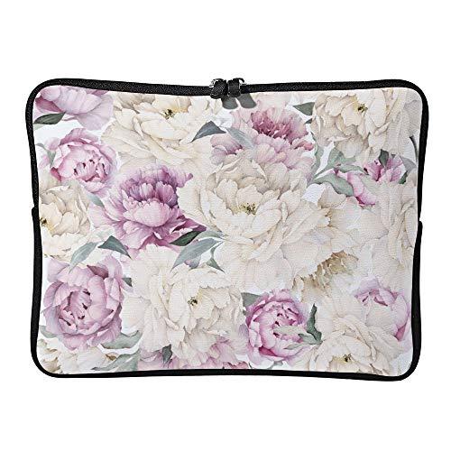 DKISEE Abstract Watercolor Floral08 Neoprene Laptop Sleeve Case Waterproof Sleeve Case Cover Bag for MacBook/Notebook/Ultrabook/Chromebooks