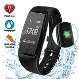 GULAKI Fitness Tracker Watch, Smart Band Wristband Heart Rate Monitor IP67 Waterproof Activity