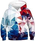 Vibome Boys and Girls 3D Print Hoodie Children's Hooded Pullover Sweatshirt (072, L)