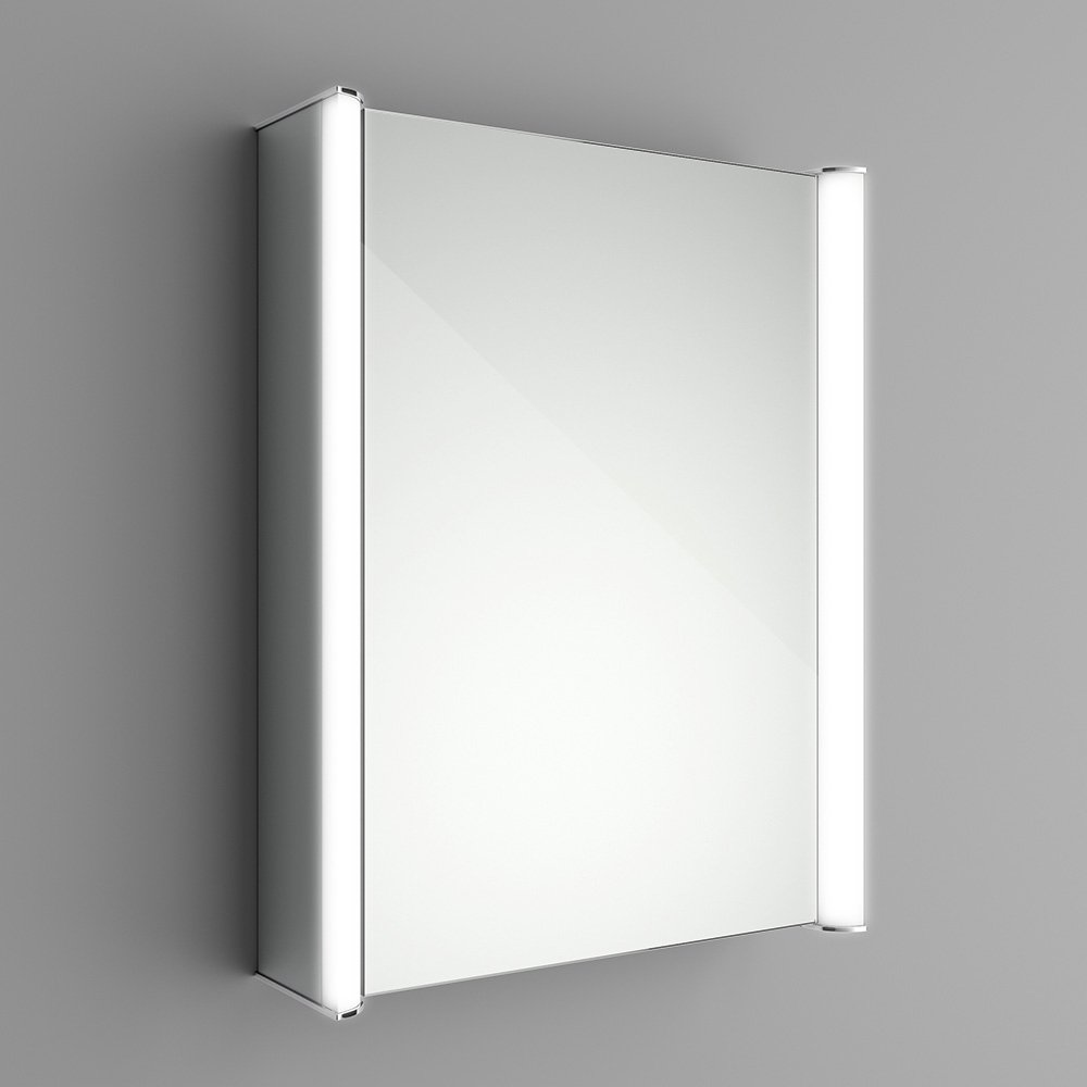 450 X 600 Mm Illuminated LED Bathroom Mirror Cabinet With Shaver Socket MC138 IBathUK Amazoncouk Kitchen Home