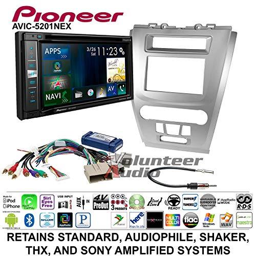 (Volunteer Audio Pioneer AVIC-5201NEX Double Din Radio Install Kit with Navigation Apple Carplay Bluetooth Fits 2010-2012 Fusion (Silver))