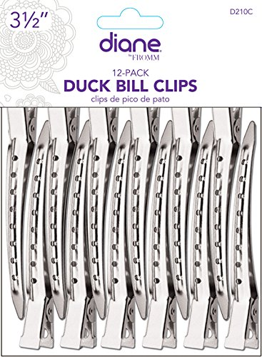 Diane Duck Bill Hair Clips 12 Pack