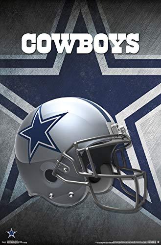Trends International Dallas Cowboys-Helmet Mount Bundle Wall Poster, 22.375