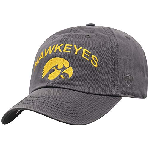 - Top of the World Iowa Hawkeyes Men's Hat Arch, Charcoal, Adjustable