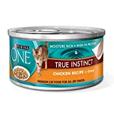 Purina ONE True Instinct Chicken Recipe in Gravy Wet Cat Food - Twenty-Four (24) 3 oz. Pull-Top Cans