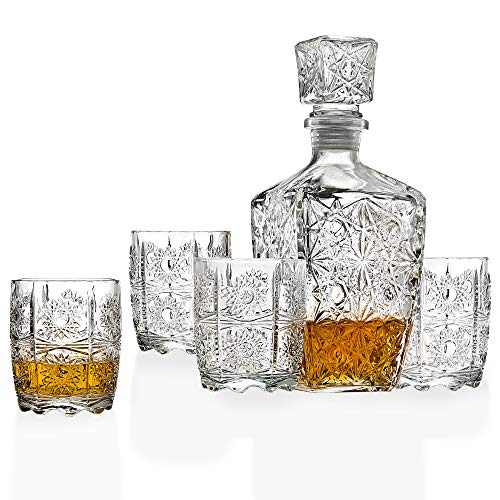 Five Piece Whiskey Decanter and Glasses Set Now $15.99 (Was $29.99)