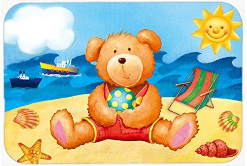 Caroline's Treasures APH0088CMT Teddy Bear On The Beach K...