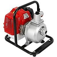 """DiLiBee Bomba de Agua de Gasolina de 1""""- Motor de 2 Tiempos, Bomba de Motor 43cc 1.7hp para riego Bomba de Alta presión de Transferencia de Agua de Gasolina para Camping"""