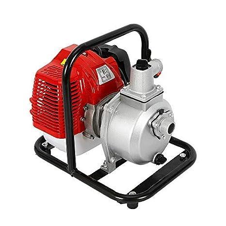 1 Benzin Wasserpumpe 2 Takt Motor 43cc 1 7 Ps Motorpumpe Bewässerung Camping Benzin Wasser Transfer Hochdruckpumpe Gewerbe Industrie Wissenschaft