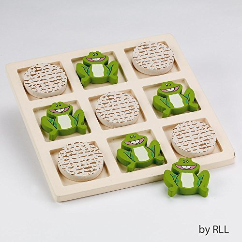 Rite Lite Tic Tac Toad Wood Passover Game - 1/pkg. - Passover Activity