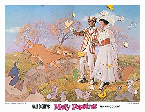 Mary Poppins 11x14 original lobby card 1980 re release Dick Van Dyke & Mary Silverscreen
