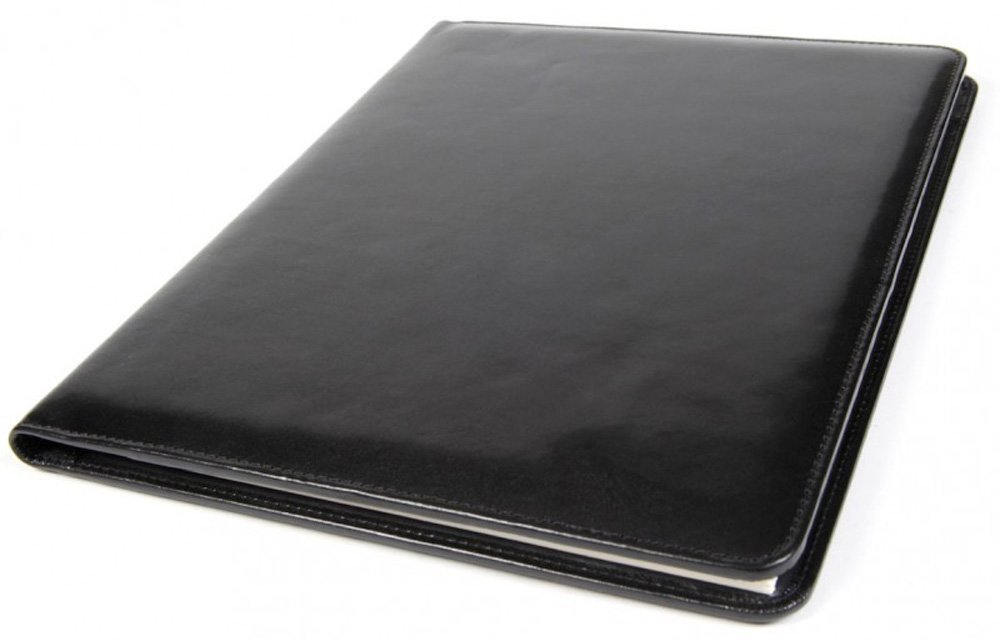 Bosca Men's 8 1/2'' X 11'' Writing Pad Cover, Black, One Size by Bosca (Image #5)