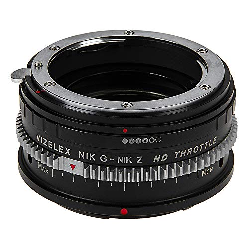 Vizelex ND Throttle Lens Mount Adapter Compatible with Nikon Nikkor F Mount G-Type D/SLR Lens to Nikon Z-Mount Mirrorless Camera Body with Built-in Variable ND Filter (1 to 8 Stops)