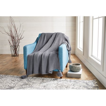 Better Homes and Gardens Chunky Knit Throw - Gray from Better Homes & Gardens